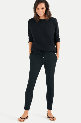 Slim Fit Sweatpants in Schwarz