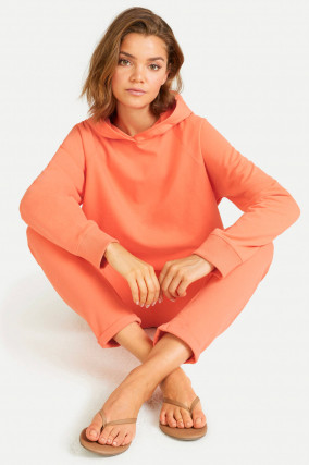 Relaxed Fit Sweatpants in Papaya