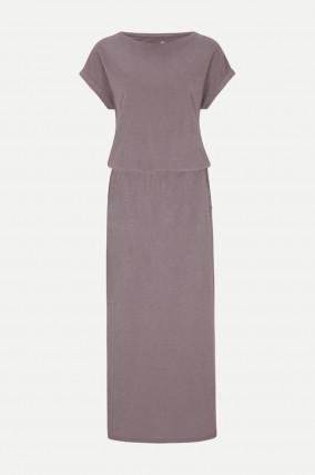 Cosy Maxikleid in Taupe