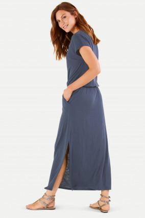 Cosy Maxi-Kleid in Dunkelblau