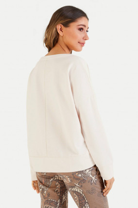 Relaxed Fit Sweater in Creme