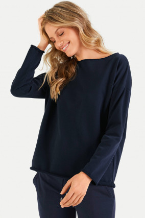 Relaxed-Fit Sweater in Navy
