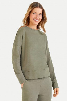 Relaxed Fit Sweatshirt in Khaki