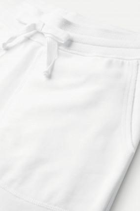 Jersey-Bermudashorts in Weiß