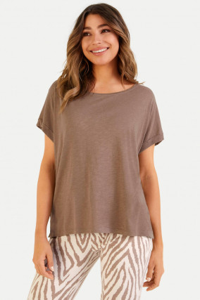 Boxy Fit T-Shirt in Tabacco