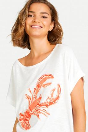 T-Shirt LOBSTER in Weiß