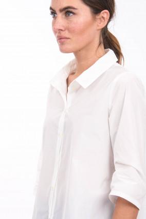 Boxy-Bluse in Weiß