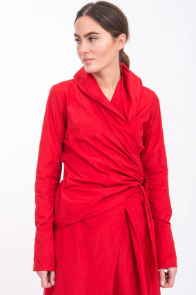 Wickelbluse in Rot
