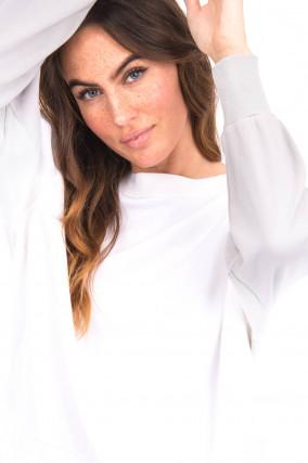 Pullover mit Farbverlauf in Weiß/Grau