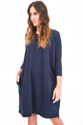 Oversized Sweater-Kleid in Navy