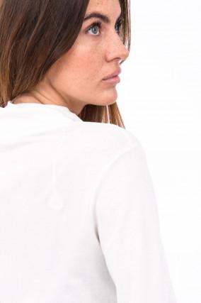 Longsleeve mit Rollkragen in Weiß
