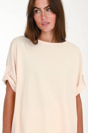 Oversized Sweatshirt in Pastell-Apricot