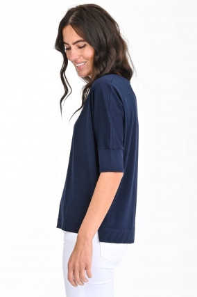 Jersey Shirt in Navy
