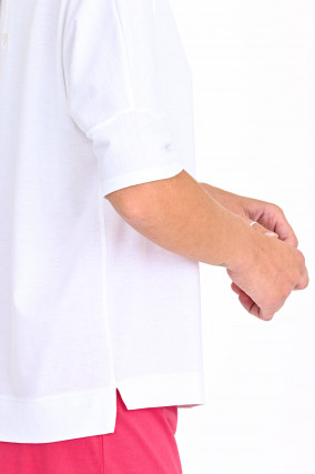 Jersey Shirt in Weiß