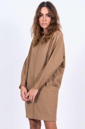 Kleid aus Kamelhaar in Camel