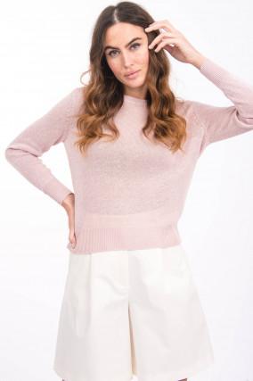 Leinen-Pullover TEIRERA in Rosa