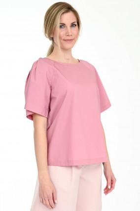 Blusenshirt TORRE mit Raglanarm in Altrosa