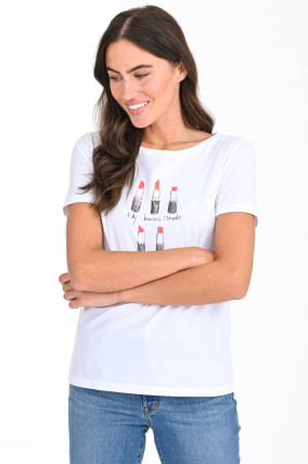 Shirt LIPPENSTIFT in Weiß