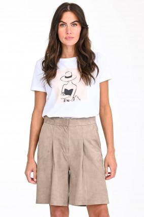 Shirt HUT in Weiß