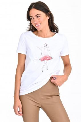Shirt ZEITUNG in Weiß