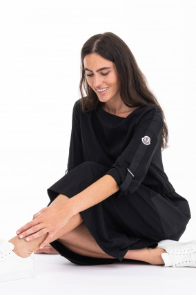 Oversized Jersey-Kleid ABITO in Schwarz