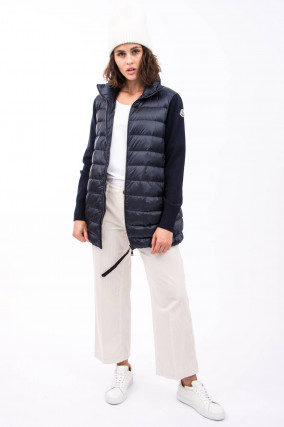 Jacke HYBRID LONG in Navy