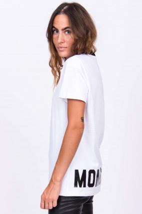 Baumwollshirt in Weiß/Schwarz