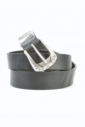 Gürtel aus Leder in Schwarz