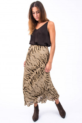 Maxi-Rock im Zebra Design