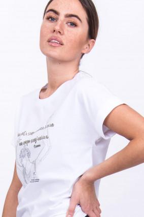 Elegantes Jerseyshirt in Weiß/Silber
