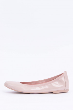 Hochglanz Ballerinas in Rose