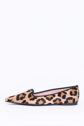 Loafer im Animal-Print in Braun/Schwarz gemustert