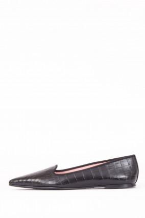 Loafer TEMPO mit Krokooptik in Schwarz