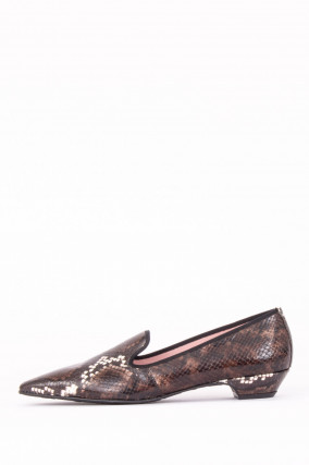 Loafer IDENTITY im Animal-Design in Braun/Weiß