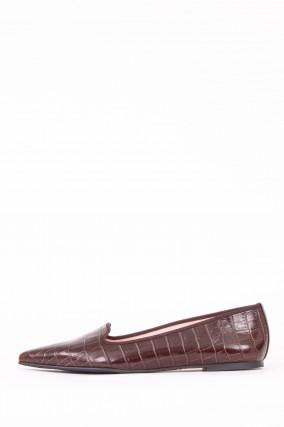 Loafer TEMPO mit Krokooptik in Braun