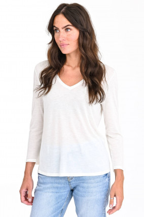 V-Shirt I'M A MILK T-SHIRT in Vanille