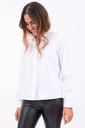 Bluse mit klassichen Kragen in Weiß