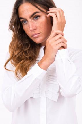 Bluse im lieblichen Design in Weiß