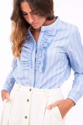Bluse im lieblichen Design in Hellblau