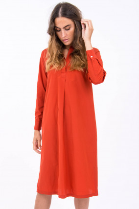 Maxi-Blusenkleid in Rot