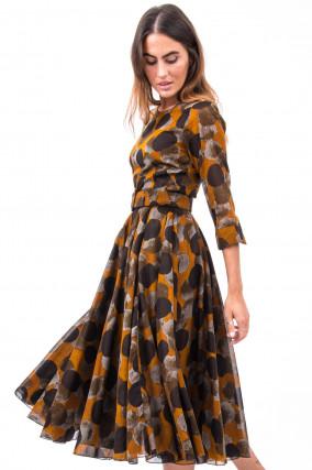 Kleid ASTER in Braun