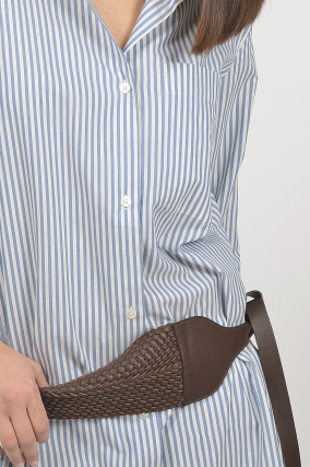 Gürtel aus Leder in Braun