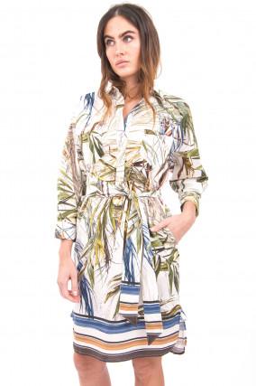 Kurzes Hemdblusenkleid in Multicolor