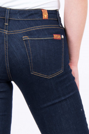 Jeans PYPER mit Kontrastnaht in Dunkelblau