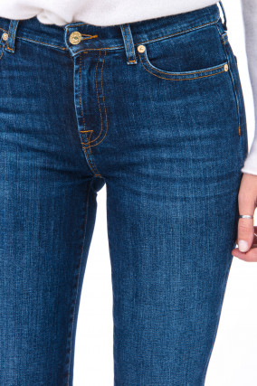 Jeans THE STRAIGHT CROP SHOHO in Denimblau