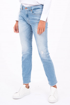 Jeans THE RELAXED SKINNY in Hellblau