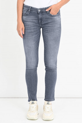 Distressed Jeans PYPER CROP in Hellgrau
