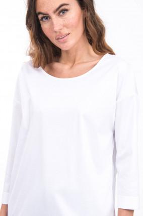 Shirt mit verlängertem Rücken in Weiß