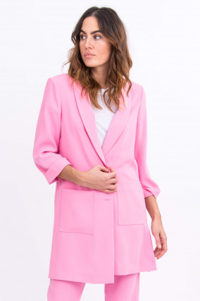 Langer Blazer in Pink