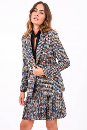 Tweed-Blazer in Multicolor